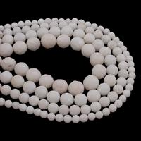 weiße Jade Perle, rund, verschiedene Größen vorhanden & facettierte, Bohrung:ca. 1mm, Länge:ca. 15 ZollInch, verkauft von Tasche