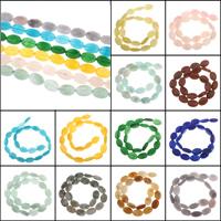 gefärbter Marmor Perle, oval, keine, 12x18x5mm, Bohrung:ca. 1mm, Länge:ca. 15.5 ZollInch, 5SträngeStrang/Tasche, ca. 22PCs/Strang, verkauft von Tasche