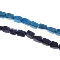 Natürlicher weißer Türkis Perle, Rechteck, keine, 9x13mm-19x11mm, Bohrung:ca. 1mm, Länge:ca. 15.5 ZollInch, 5SträngeStrang/Tasche, ca. 31PCs/Strang, verkauft von Tasche
