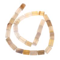 Achat Perlen, Zylinder, 8x12mm, Bohrung:ca. 1mm, Länge:ca. 15 ZollInch, 5SträngeStrang/Tasche, ca. 20PCs/Strang, verkauft von Tasche