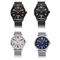 Herren Armbanduhr, Edelstahl, mit Zinklegierung Zifferblatt & Glas, plattiert, für den Menschen, keine, 12lnch, Länge:ca. 9.4 ZollInch, verkauft von PC