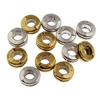 Zink Legierung Perlen Schmuck, Zinklegierung, plattiert, keine, frei von Blei & Kadmium, 7x3mm, Bohrung:ca. 3mm, 10PCs/Tasche, verkauft von Tasche