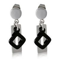 Titanstahl Tropfen Ohrring, plattiert, für Frau, 10x10mm, 15x1mm, 3PaarePärchen/Menge, verkauft von Menge