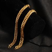 Herren-Armband & Bangle, Messing, 24 K vergoldet, Kandare Kette & für den Menschen, frei von Nickel, Blei & Kadmium, 9mm, verkauft per ca. 8.5 ZollInch Strang