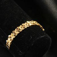 Messing-Armbänder, Messing, 24 K vergoldet, Blume Schnitt & für Frau, frei von Nickel, Blei & Kadmium, 9mm, verkauft per ca. 7.5 ZollInch Strang