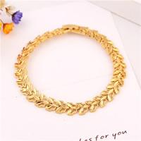 Messing-Armbänder, Messing, 24 K vergoldet, für Frau, frei von Nickel, Blei & Kadmium, 13mm, verkauft per ca. 7.5 ZollInch Strang