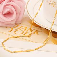 Messing Halskette, 24 K vergoldet, Bar-Kette & für Frau, frei von Nickel, Blei & Kadmium, 2mm, verkauft per ca. 18 ZollInch Strang