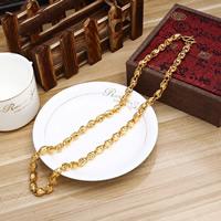 Messing Halskette, 24 K vergoldet, für den Menschen, frei von Nickel, Blei & Kadmium, 8mm, verkauft per ca. 23.5 ZollInch Strang