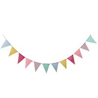 Dekoration Pull Flagge, Leinen, mit Hanfgarn, Dreieck, Hochzeitsgeschenk, 150x170mm, Länge:ca. 3.5-4 m, 3SträngeStrang/Menge, verkauft von Menge