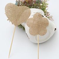 Hochzeits-Dekoration Zubehör, Leinen, mit Bambus, Hochzeitsgeschenk & verschiedene Stile für Wahl, 70mm, 170mm, verkauft von PC