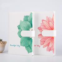 Notizbuch, PU Leder, mit Papier, Rechteck, verschiedene Muster für Wahl & mit Blumenmuster, 145x216x20mm, verkauft von PC