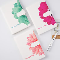 Notizbuch, PU Leder, mit Papier, Rechteck, verschiedene Muster für Wahl & mit Blumenmuster, 145x217x18mm, verkauft von PC
