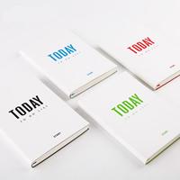Notizbuch, PU Leder, mit Papier, Rechteck, mit Brief Muster, keine, 135x188x17mm, verkauft von PC