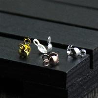 925 Sterling Silber Perlen-Tipps, plattiert, keine, 3.70x13mm, 30PCs/Menge, verkauft von Menge