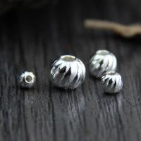 925 Sterling Silber Perlen, verschiedene Größen vorhanden & gewellt, verkauft von Menge