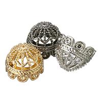 Zinklegierung Perlen Kappe Einstellung, plattiert, keine, frei von Blei & Kadmium, 15x12mm, Bohrung:ca. 1mm, Innendurchmesser:ca. 1.5mm, 10PCs/Tasche, verkauft von Tasche