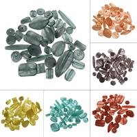 Transparente Acryl-Perlen, Acryl, transluzent, keine, 19.5x22.5x8.5mm-4x12.5x4mm, Bohrung:ca. 1-1.5mm, 500G/Tasche, verkauft von Tasche