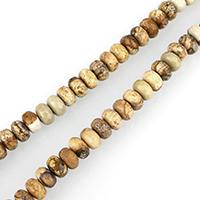 Bild Jaspis Perlen, Rondell, facettierte, 6x8mm, Bohrung:ca. 1mm, ca. 73PCs/Strang, verkauft per ca. 15 ZollInch Strang