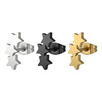 Edelstahl Ohrringe, 316 Edelstahl, Stern, plattiert, poliert & unisex, keine, 13mm, verkauft von Paar