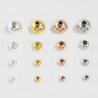 925 Sterling Silber Perlen, rund, plattiert, verschiedene Größen vorhanden, keine, Bohrung:ca. 1-2mm, verkauft von PC