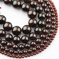 Natürlicher Granat Perlen, rund, verschiedene Größen vorhanden, verkauft per ca. 15 ZollInch Strang