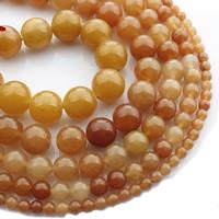 Aventurin Perlen, Roter Aventurin, rund, natürlich, verschiedene Größen vorhanden, verkauft per ca. 15 ZollInch Strang