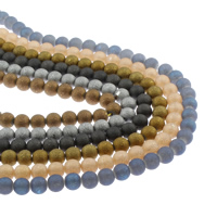 Kristall-Perlen, Kristall, rund, plattiert, satiniert, mehrere Farben vorhanden, 10mm, Bohrung:ca. 1mm, ca. 38PCs/Strang, verkauft per ca. 15.5 ZollInch Strang