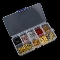 Kristall-Perlen, Kristall, mit Kunststoff Kasten & Eisen, facettierte, 1.5x26-8mm, 130x69x22mm, Innendurchmesser:ca. 1.5mm, verkauft von Box