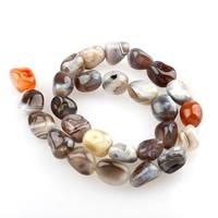 Natürliche Botswana Achat Perlen, 11x15-13x17mm, Bohrung:ca. 1mm, 27PCs/Strang, verkauft per ca. 15.5 ZollInch Strang