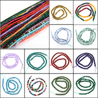 Mischedelstein Perlen, Edelstein, verschiedenen Materialien für die Wahl & facettierte, 4x3mm, Bohrung:ca. 1.5mm, 125PCs/Strang, verkauft per ca. 15.5 ZollInch Strang