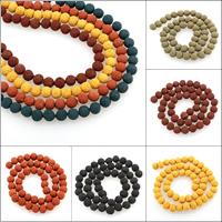 Polymer Ton Perlen , rund, keine, 8mm, Bohrung:ca. 1mm, ca. 48PCs/Strang, verkauft per ca. 15.5 ZollInch Strang