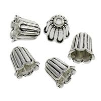 Zinklegierung Perlenkappe, Blume, antik silberfarben plattiert, frei von Blei & Kadmium, 10x11mm, Bohrung:ca. 2mm, 500PCs/Tasche, verkauft von Tasche