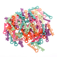 Acryl Anhänger, Schlüssel, gemischte Farben, 8x20x4mm, Bohrung:ca. 1mm, 500G/Tasche, verkauft von Tasche