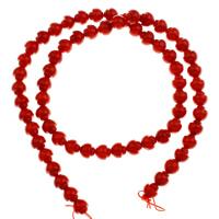 Natürliche Korallen Perlen, 6.5mm, Bohrung:ca. 1mm, Länge:ca. 15.7 ZollInch, 10SträngeStrang/Tasche, ca. 62PCs/Strang, verkauft von Tasche