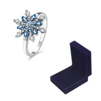 comeon® Finger-Ring, Thailand, Blume, verschiedene Größen vorhanden & für Frau & mit kubischem Zirkonia, 14x17mm, verkauft von PC