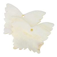 Hyriopsys Cumingii Anhänger, Schmetterling, natürliche, 61x46x4.50mm, Bohrung:ca. 2.5mm, 10PCs/Menge, verkauft von Menge