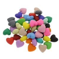 Polymer Ton Perlen , Herz, keine, 20x19x11mm, Bohrung:ca. 1.5mm, 100PCs/Tasche, verkauft von Tasche