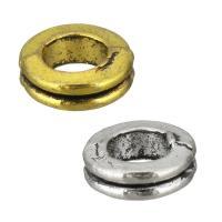 Zink Legierung Europa Perlen, Zinklegierung, Kreisring, plattiert, ohne troll, keine, frei von Nickel, Blei & Kadmium, 8x3x8mm, Bohrung:ca. 4.5mm, 2000PCs/Menge, verkauft von Menge