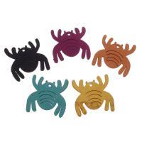 Wollschnur Anhänger, Spinne, keine, 35x36x1.5mm, Bohrung:ca. 1.5mm, 500PCs/Tasche, verkauft von Tasche