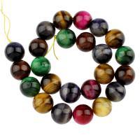 Mischedelstein Perlen, Edelstein, rund, 16mm, Bohrung:ca. 1mm, 24PCs/Strang, verkauft per ca. 15 ZollInch Strang