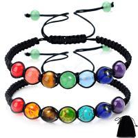 Edelstein Woven Ball Armband, mit Nylonschnur, unisex & einstellbar & verschiedene Stile für Wahl, frei von Nickel, Blei & Kadmium, 6mm, verkauft per ca. 12 ZollInch Strang