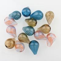 Handgewickelte Perlen, Lampwork, Tropfen, hohl, keine, 14x20mm, Bohrung:ca. 2-2.5mm, 10PCs/Tasche, verkauft von Tasche