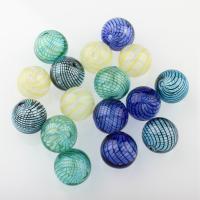 Handgewickelte Perlen, Lampwork, rund, hohl, keine, 20mm, Bohrung:ca. 2-3mm, 10PCs/Tasche, verkauft von Tasche