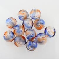 Handgewickelte Perlen, Lampwork, rund, hohl, 20mm, Bohrung:ca. 2-3mm, 10PCs/Tasche, verkauft von Tasche