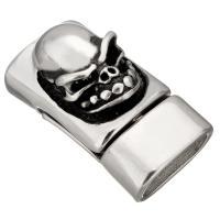 Edelstahl Magnetverschluss, Schwärzen, 28x15x15mm, Innendurchmesser:ca. 13x7mm, 10PCs/Menge, verkauft von Menge