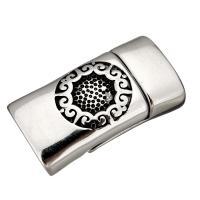 Edelstahl Magnetverschluss, Schwärzen, 29x16x10mm, Innendurchmesser:ca. 13x7mm, 10PCs/Menge, verkauft von Menge