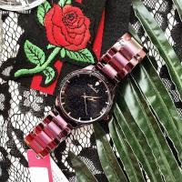 Damen Armbanduhr, Edelstahl, mit Glas & Zinklegierung, plattiert, für Frau & mit Strass, keine, 35x10mm, Länge:ca. 8 ZollInch, verkauft von PC