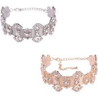 Mode-Halskette, Zinklegierung, mit Verlängerungskettchen von 5.5lnch, plattiert, für Frau & mit Strass, keine, frei von Nickel, Blei & Kadmium, 42mm, verkauft per ca. 10.6 ZollInch Strang