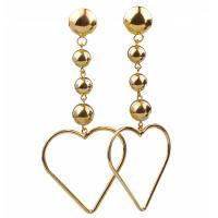 Zinklegierung Ohrringe, Herz, goldfarben plattiert, für Frau, frei von Nickel, Blei & Kadmium, 100mm, verkauft von Paar