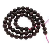 Granat Perle, rund, Januar Birthstone & verschiedene Größen vorhanden & facettierte, Bohrung:ca. 0.5mm, verkauft per ca. 15.5 ZollInch Strang